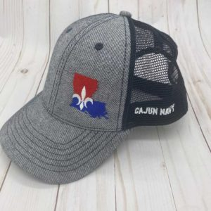 cajun navy pinnacle search rescue trucker cap side view